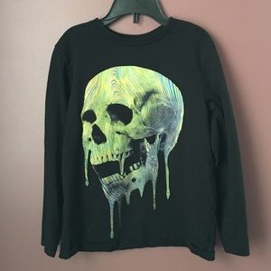 Children's Place skull long sleeved t-shirt